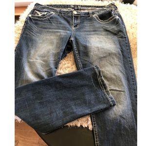 Amethyst Straight Leg Jeans Size 16